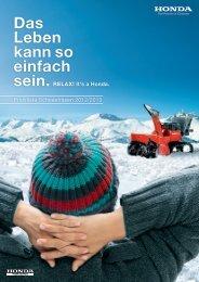 Schneefräsen Preisliste 2012/2013 - Honda