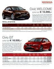 Civic GT Civic WelCome - Honda