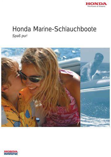 honda marine-schlauchboote mit aluminiumdeck