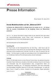 Pressemitteilung - Honda