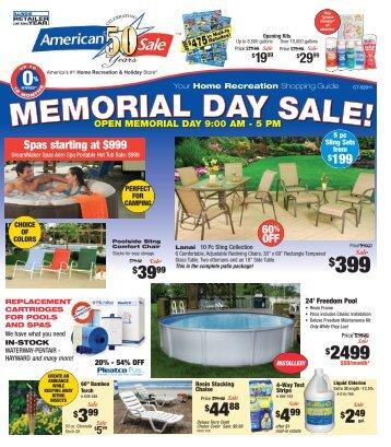 MEMORIAL DAY SALE! MEMO RIAL DAY SALE ! - American Sale