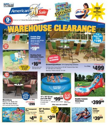 WAREHOUSE CLEARANCE WAREHOUSE ... - American Sale
