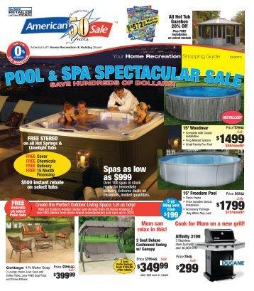 POOL & SPA SPECTACULAR SALE POOL & SPA ... - American Sale