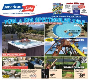 pool & spa spectacular sale pool & spa spectacular ... - American Sale