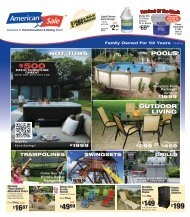 With any 2013 model hot tub! - American Sale