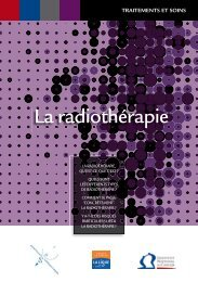 La radiothérapie - Institut National Du Cancer