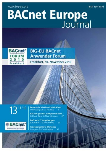 PDF: BACnet Europe Journal 13 - 11/10