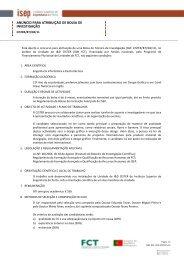 anúncio para atribuição de bolsa de investigação - Instituto Superior ...