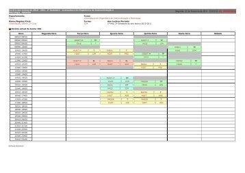 Horário das turmas de 2010 - 2011 2º Semestre - Licenciatura em ...