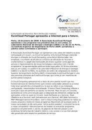 EuroCloud Portugal apresenta a Internet para o futuro. - Instituto ...