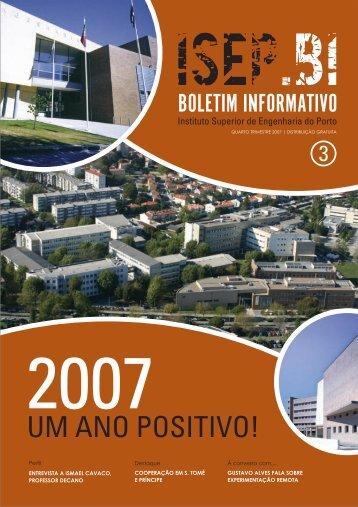 UM ANO POSITIVO! - Instituto Superior de Engenharia do Porto ...