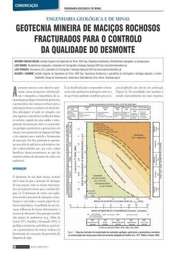 Geotecnia Mineira de Maciços Rochosos Fraturados - Instituto ...