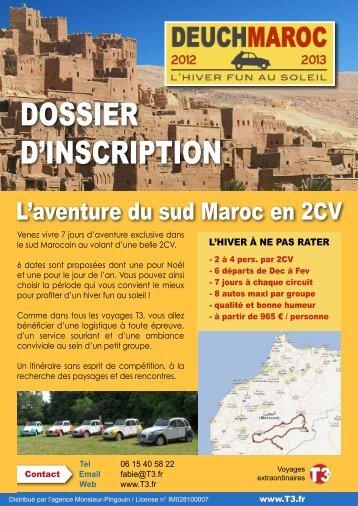 DOssier D'insCripTiOn - Amicale Citroën Deutschland
