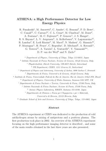 ATHENA: a High Performance Detector for Low Energy Physics