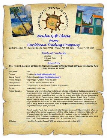 Aruba Gift Ideas - Caribbean Trading
