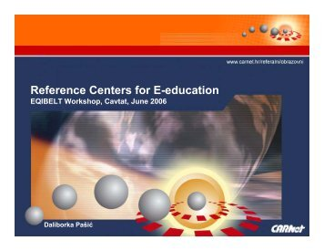 Reference Centers for E-education - Eqibelt