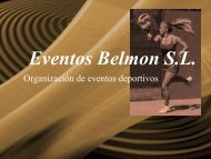Eventos Belmon S.L. - Tu patrocinio