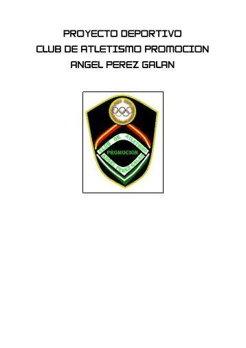 proyecto deportivo club de atletismo promocion ... - Tu patrocinio