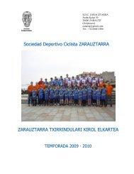 Sociedad Deportivo Ciclista ZARAUZTARRA ... - Tu patrocinio