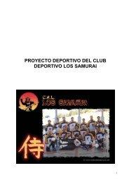 proyecto deportivo del club deportivo los samurai - Tu patrocinio