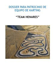 """dossier para patrocinio de equipo de karting """"team ... - Tu patrocinio"""