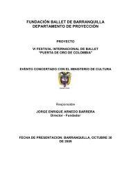 FUNDACIÓN BALLET DE BARRANQUILLA ... - Tu patrocinio