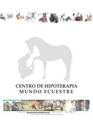CENTRO DE HIPOTERAPIA MUNDO ECUESTRE - Tu patrocinio