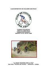 1 club deportivo de ciclismo san félix clasica ciclística ... - Tu patrocinio