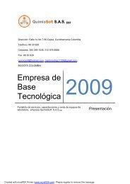 QuimioSoft SAS EBT - Tu patrocinio