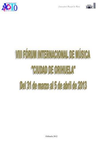 Conservatorio Municipal de Música - Tu patrocinio