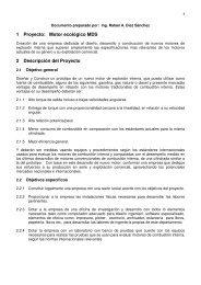 1 Proyecto: Motor ecológico MDS 2 Descripción del ... - Tu patrocinio