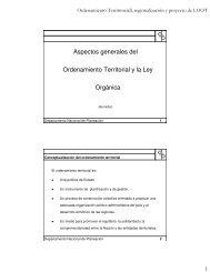 Aspectos generales del Ordenamiento Territorial y la ... - Tu patrocinio
