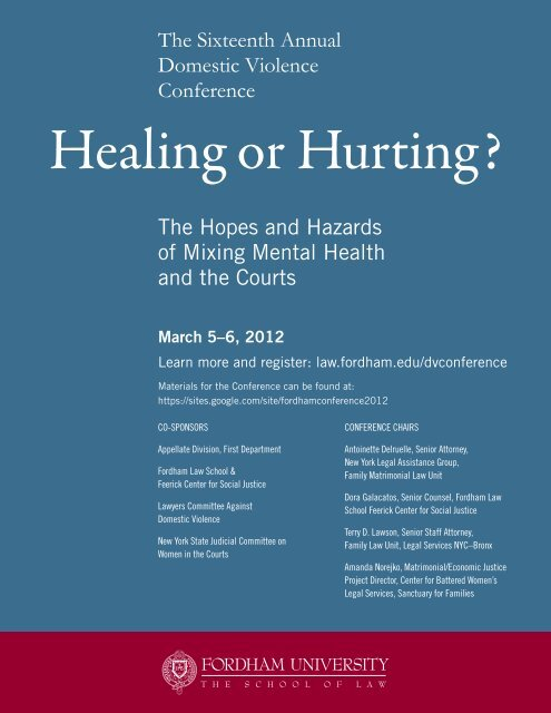 Healing or Hurting? - Fordham Law School - Fordham University