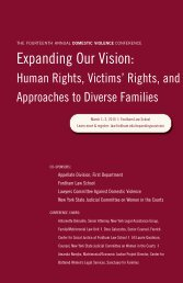 Expanding Our Vision: Human Rights, Victims - Fordham Law School