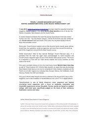 Travel & Leisure World's Best Awards_Sofitel Queenstown ... - GoExpo