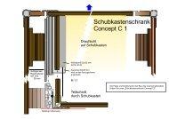 Schubkastenschrank Concept C 1 - 4x4 Innenausbau