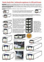 `Really Useful Box` Aufbewahrungsboxen im ... - 4x4 Innenausbau