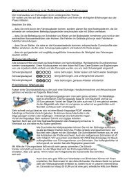 Schwierigkeitsgrad allgemeine anleitung zum ... - 4x4 Innenausbau