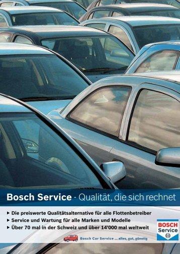 Bosch Service - Qualität, die sich rechnet