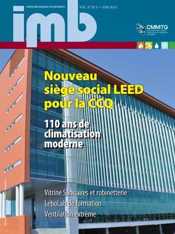 Juin 2012 - Vol. 27, no 5 - CMMTQ