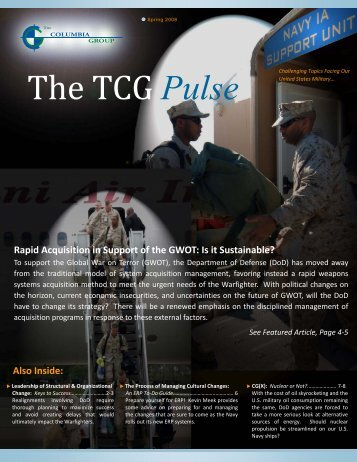 TCG Pulse Spring 2008.pdf - The Columbia Group
