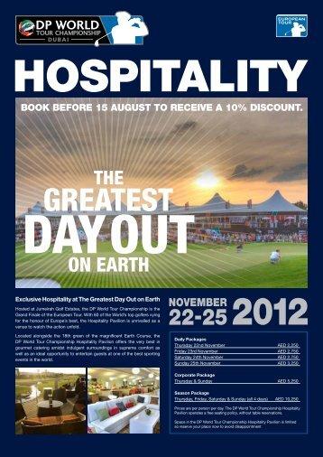 Hospitality - European Tour