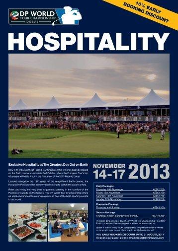 2013 Hospitality PDF flyer.indd - European Tour
