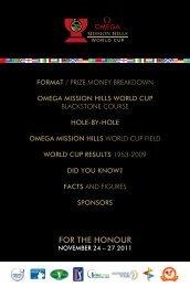 For the honour - European Tour