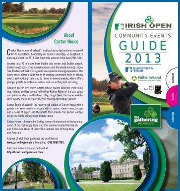 Irish Open community brochure - European Tour