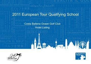 Hotel Listing - Costa Ballena - European Tour