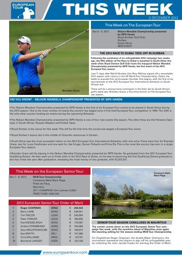 This Week on the European Senior Tour This Week on The ...