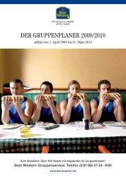 DER GRUPPENPLANER 2009/2010 - Best Western Hotels ...