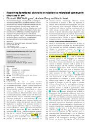 Resolving functional diversity in relation to microbial community ...