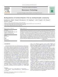 Biodegradation of trichloroethylene (TCE) by methanotrophic ...